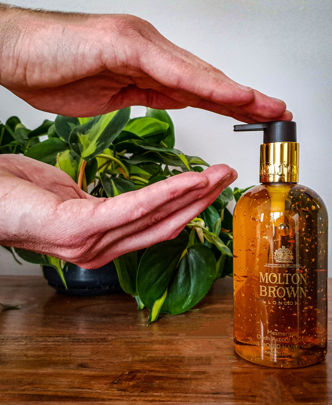 At Home with Molton Brown Tobacco Absolute hand soap
