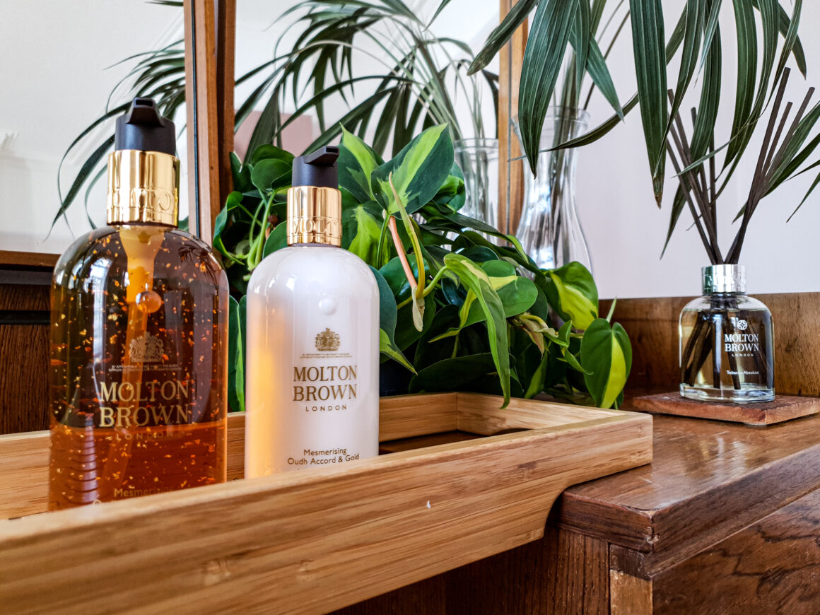 At Home with Molton Brown hand products