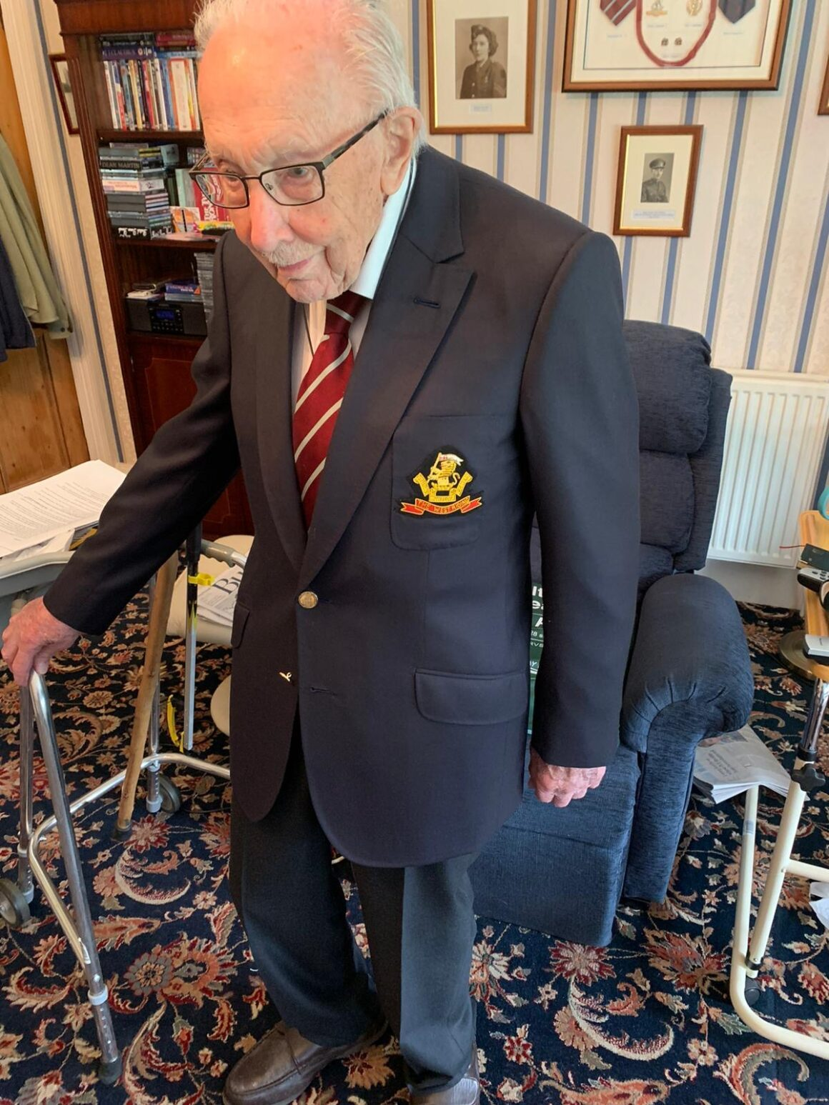 A Bespoke Birthday Gift for Captain Tom by Souster & Hicks. Suit Fitting