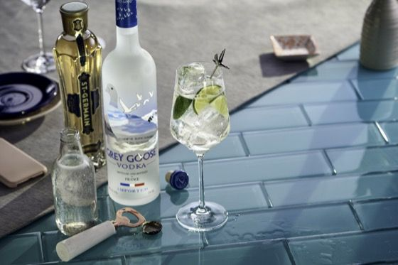 Grey Goose and Laura Whitmore Le Grand Fizz Cocktail