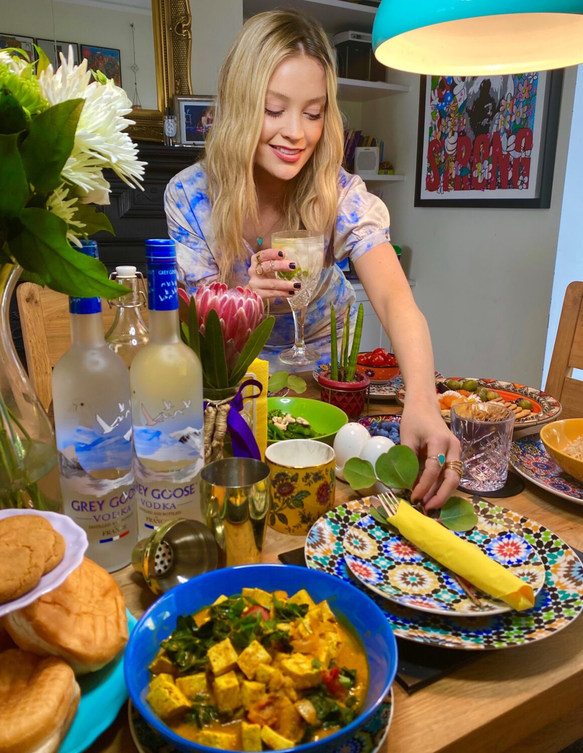 Grey Goose and Laura Whitmore host a Virtual Dinner Party