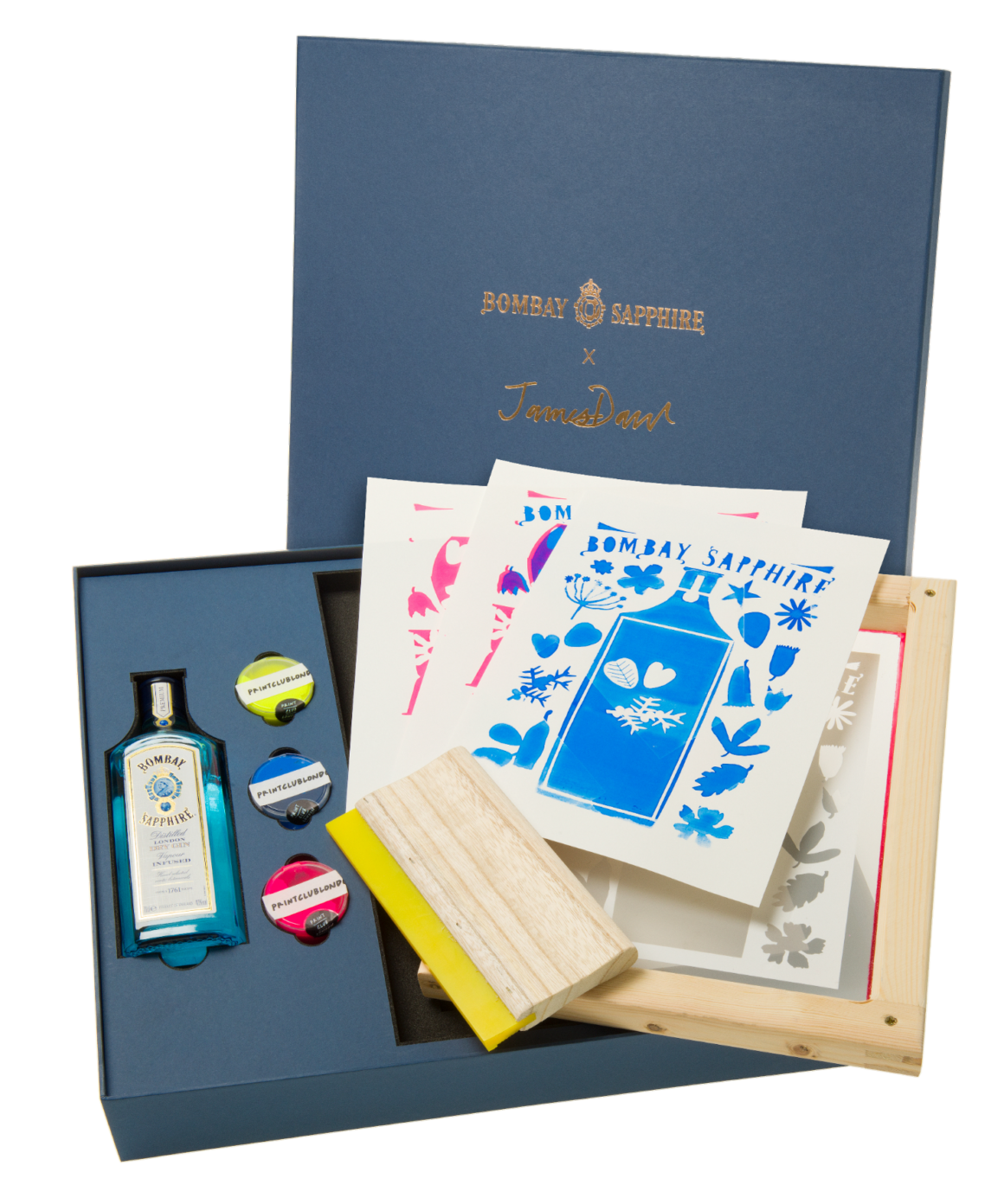 Bombay Sapphire x Print Club London Limited-Edition Cocktails & Create Kit