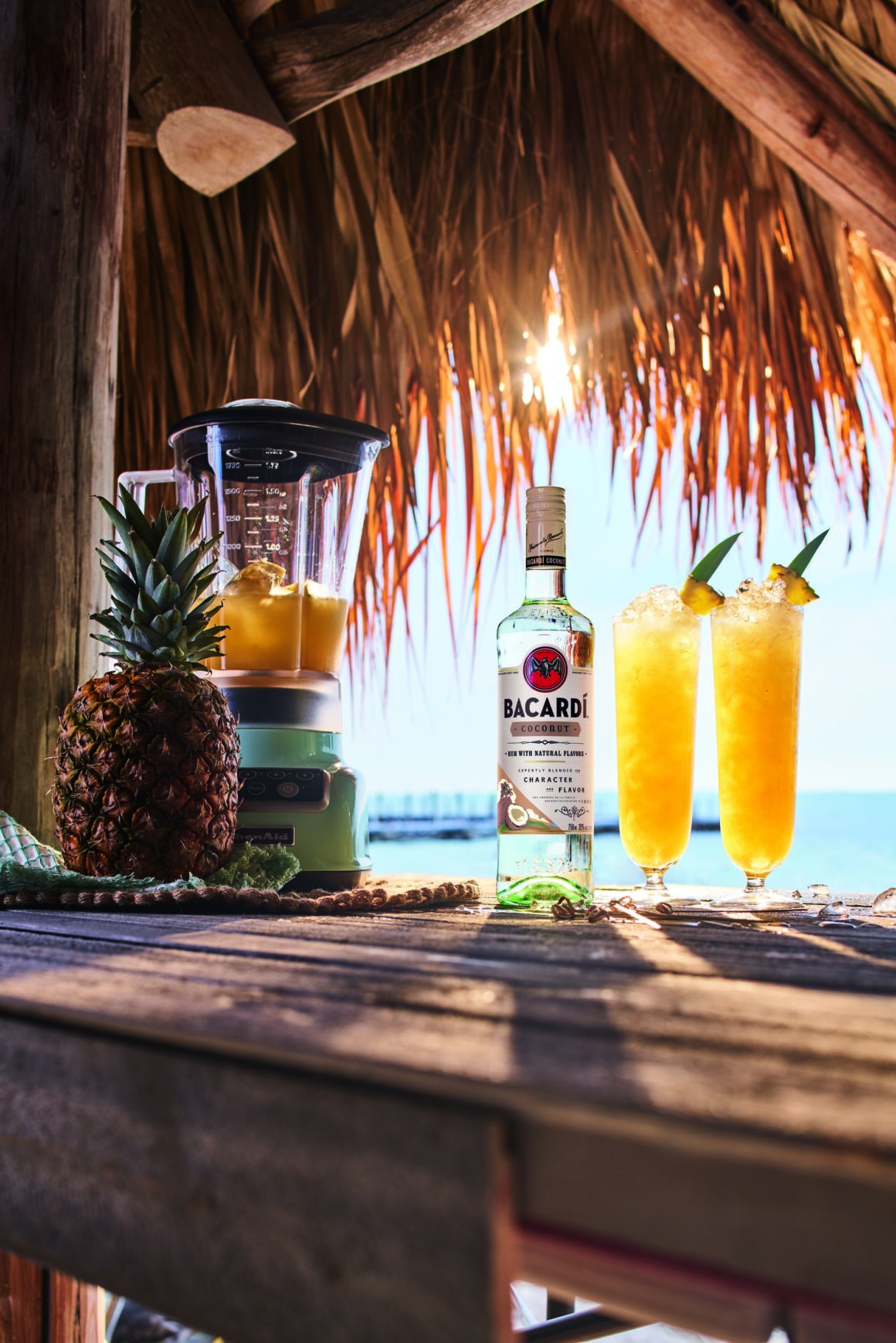 Enjoy the nation's favourite al-fresco summer sippers with friends - BACARDÍ Rum Piña Colada