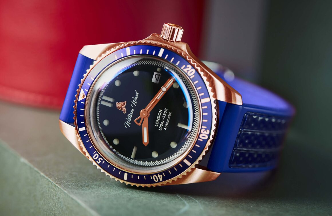 William Wood Watches Release Bronze Special Edition Blue Strap