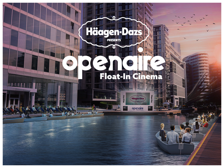 Haagen Dazs & Openaire Float In Cinema. Off The Cuff LDN