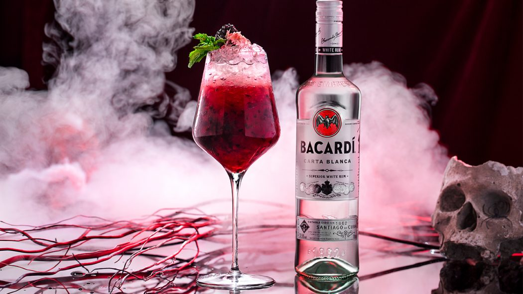 6 Spooky Halloween Cocktail Sippers - Bat Blood Mojito