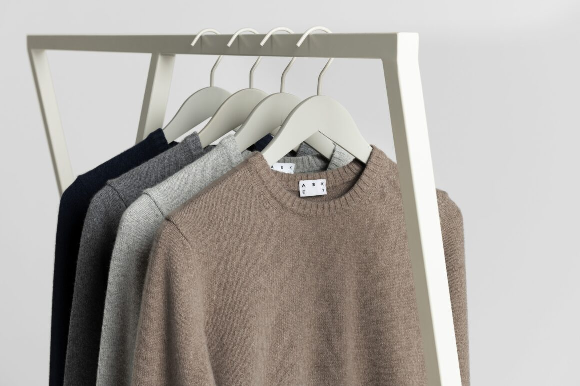 Buy Less, Shop Sustainably - ASKET Cashmere Clothes Rail