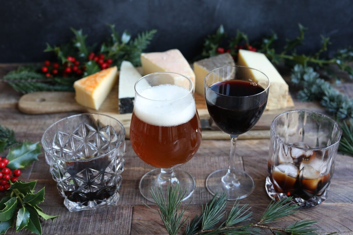 Drinks to pair with cheese this Christmas - Goslings Family Reserve Rum and Vintage cheddar