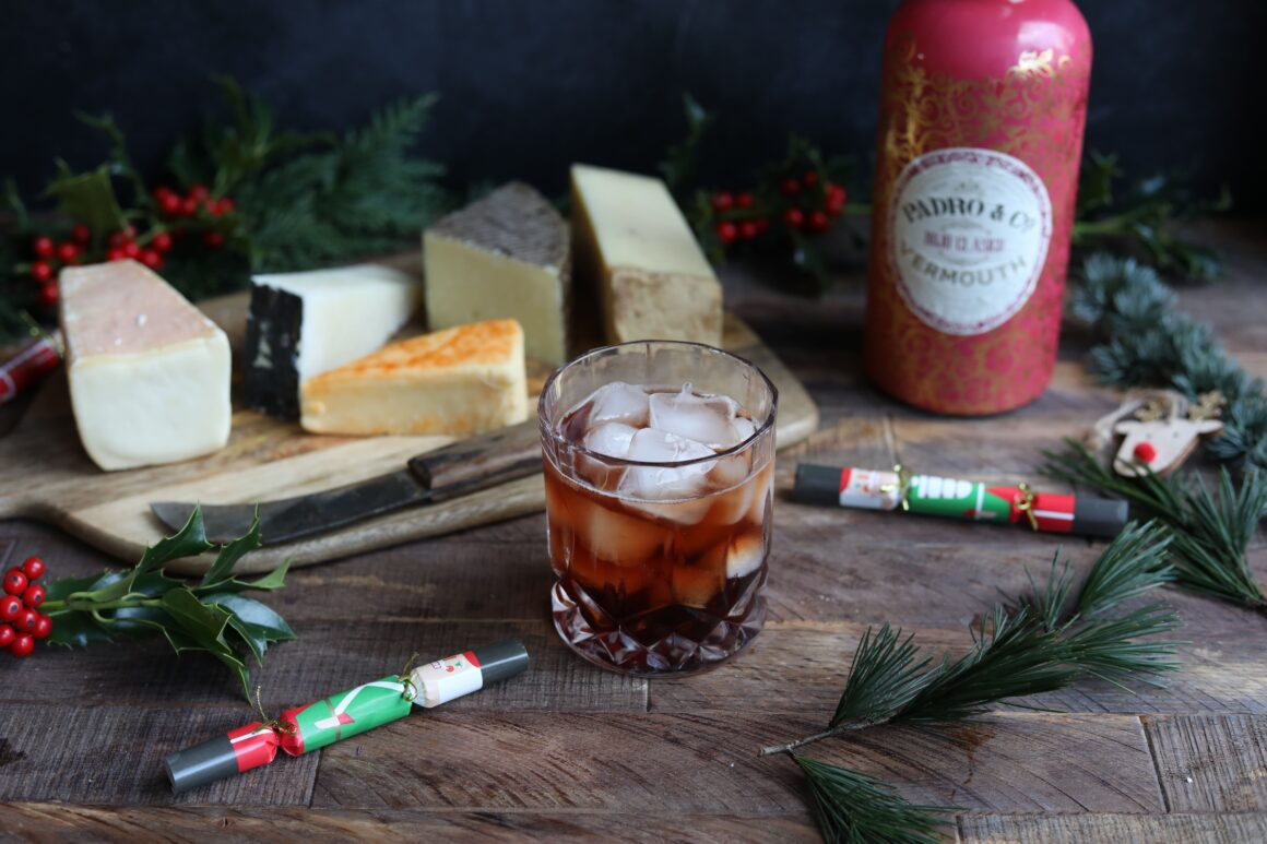 Drinks to pair with cheese this Christmas - Padro Vermouth Rojo Classico and Manchego