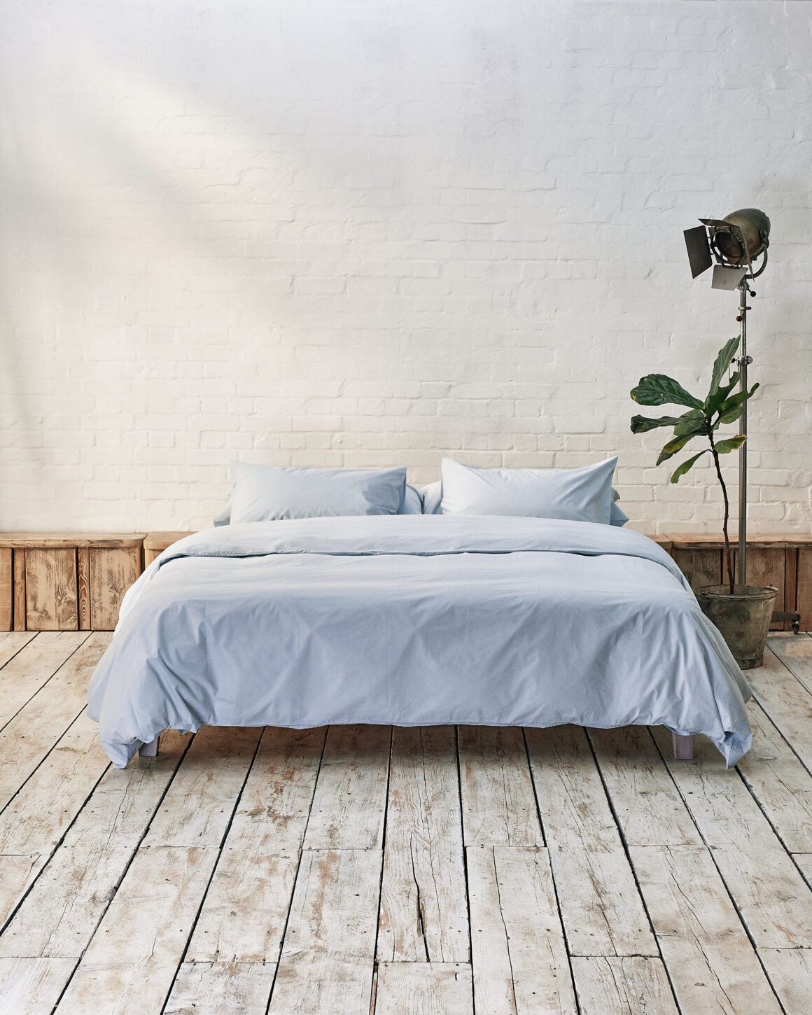Beddable Pastel Collection - Ice Blue Percale