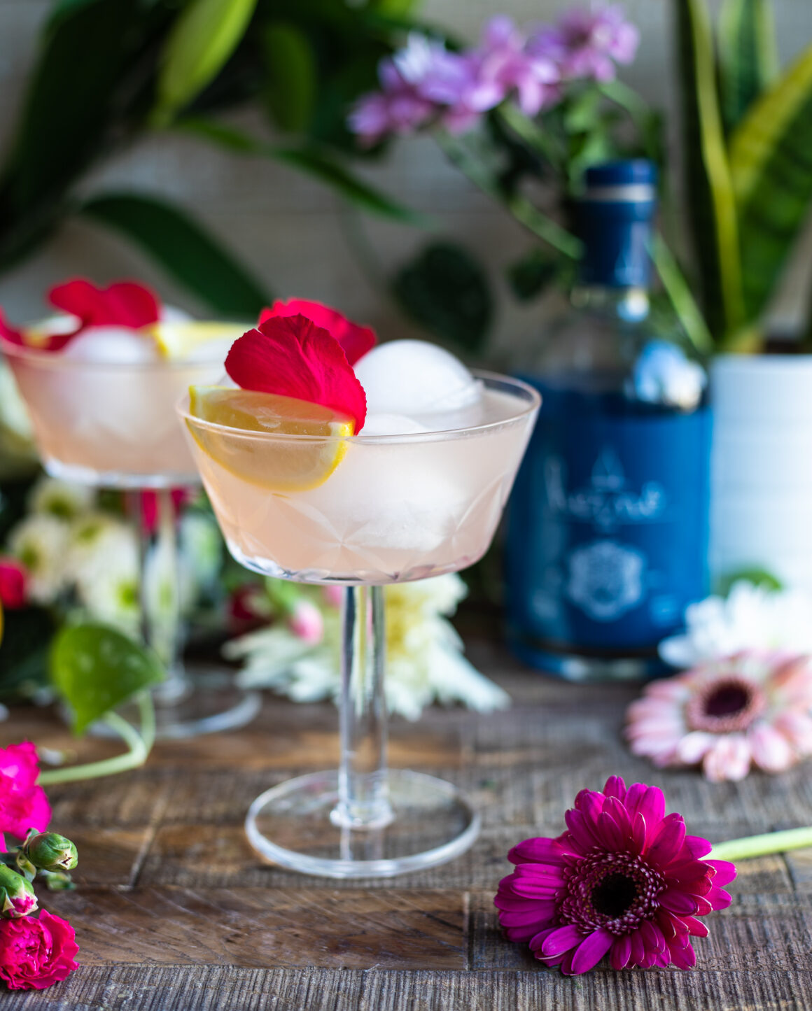 Meet the mixologist - 5 of the best cocktails for Summer - Herno Fizz Rose Gin
