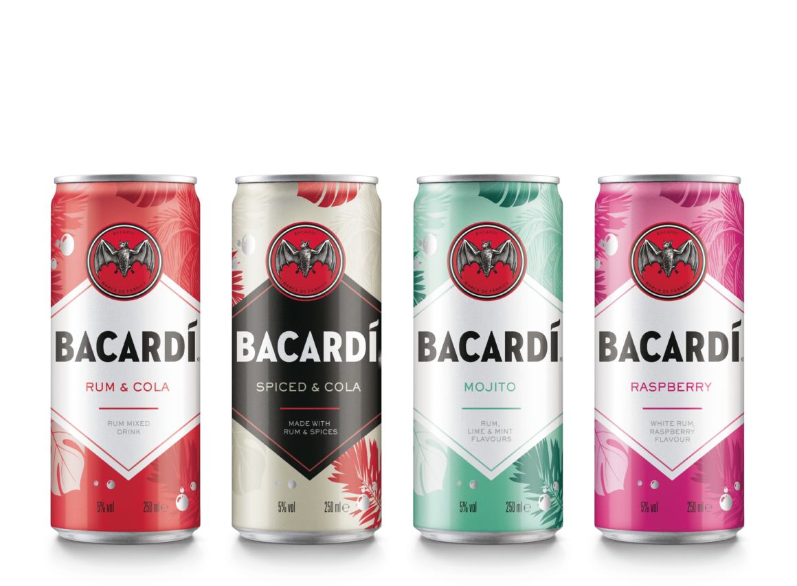 Ready to drink cocktail cans in the sun - BACARDÍ rumReady-To-Drinkrange