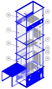 continuous vertical conveyor diagram