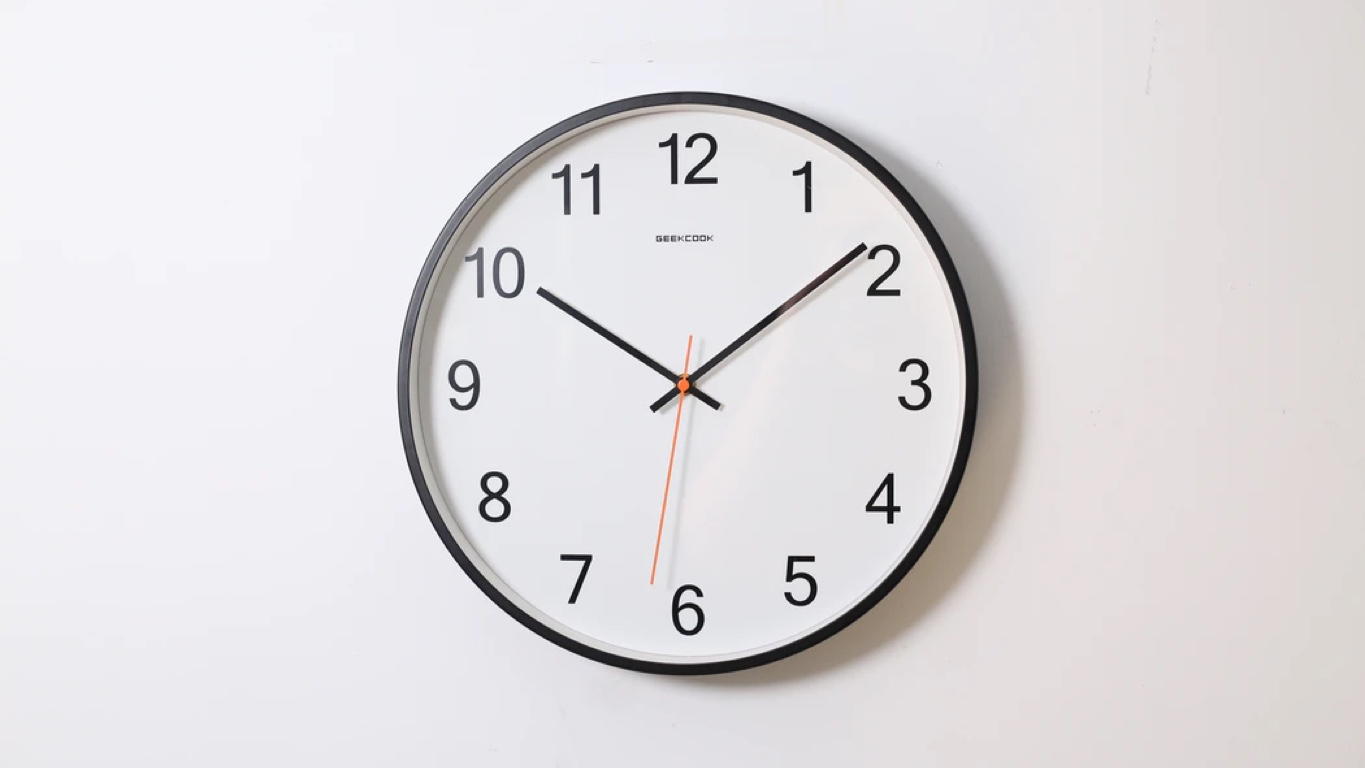 How long is an internship: Round clock hanging on the wall