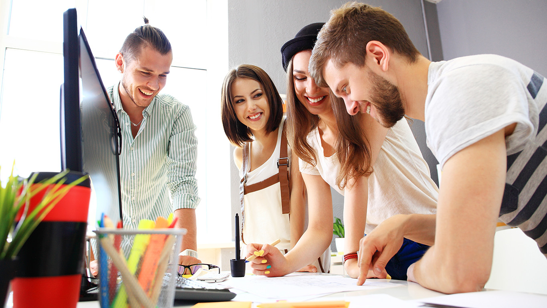 Graphic design internship: group of designers