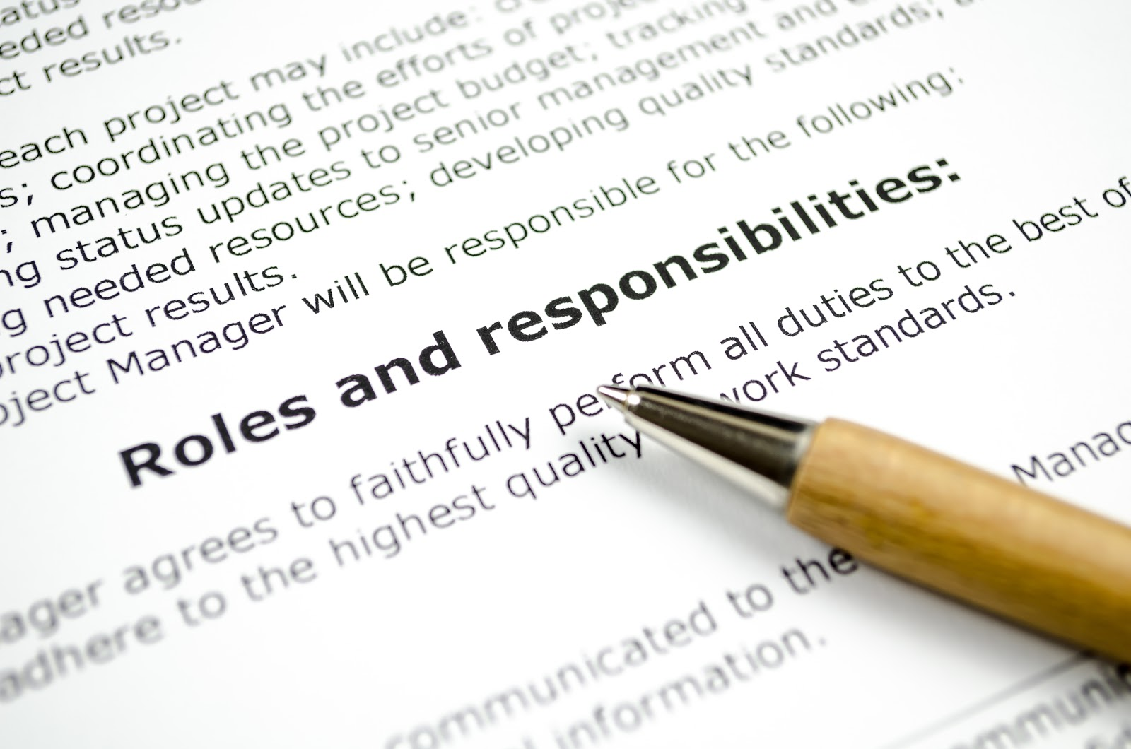 How to write job description for interns: Paper copy of roles and responsibilities