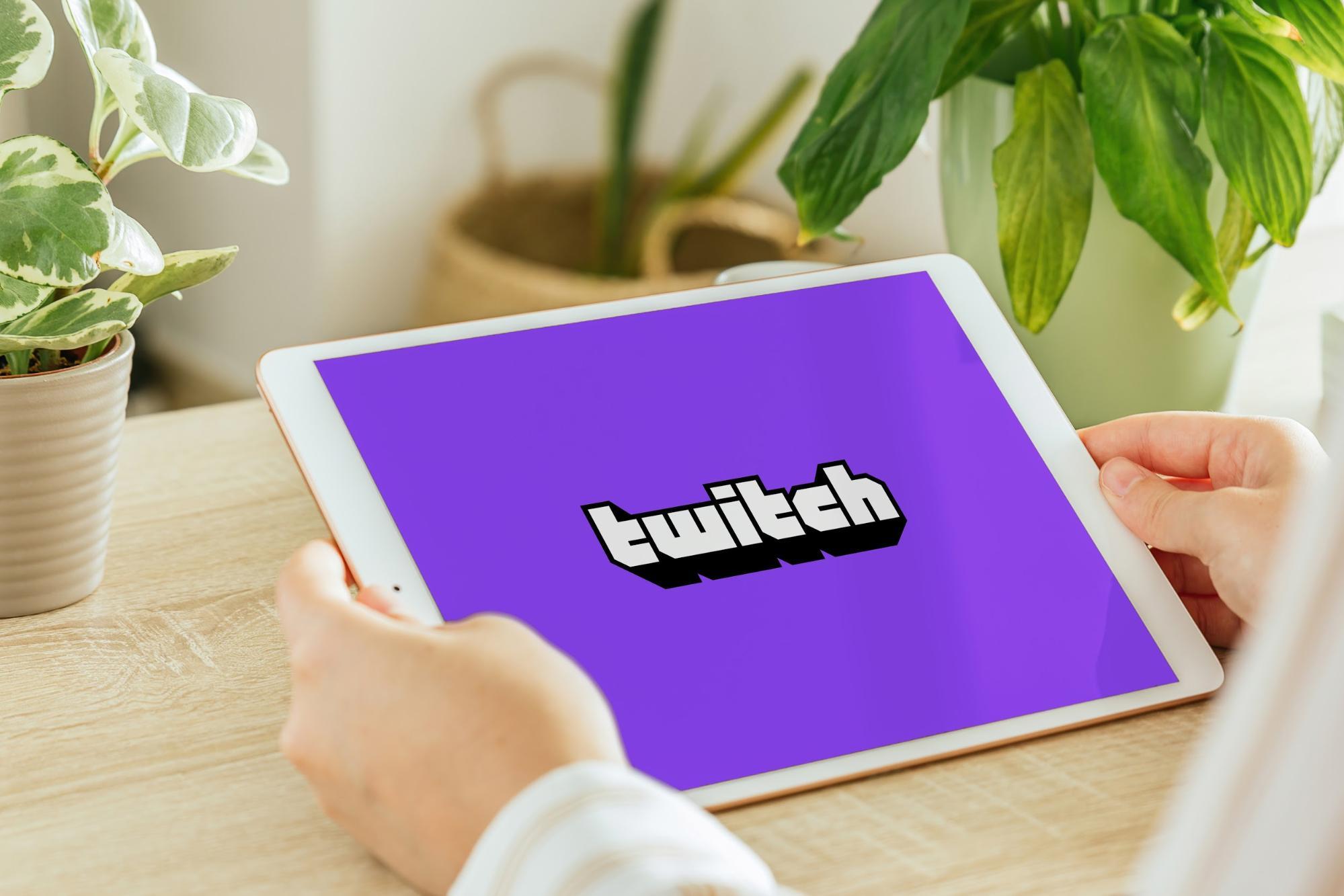 Twitch internship: Twitch logo shown on tablet
