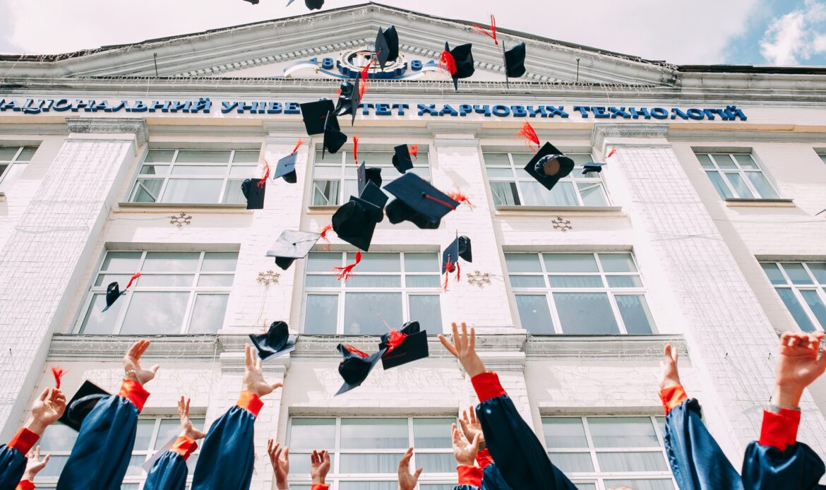 Group of students graduating from college.