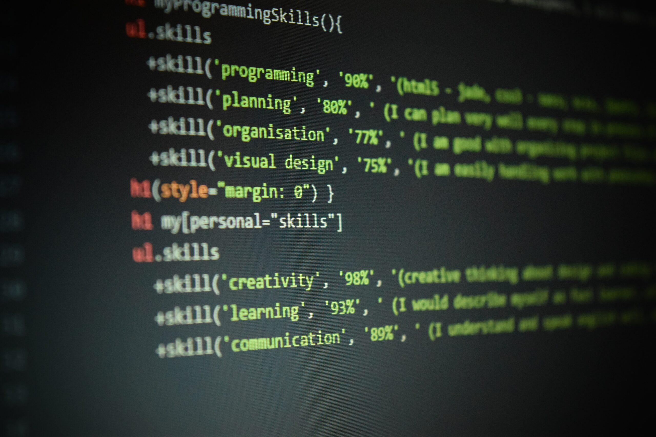 Coding with skills embedded