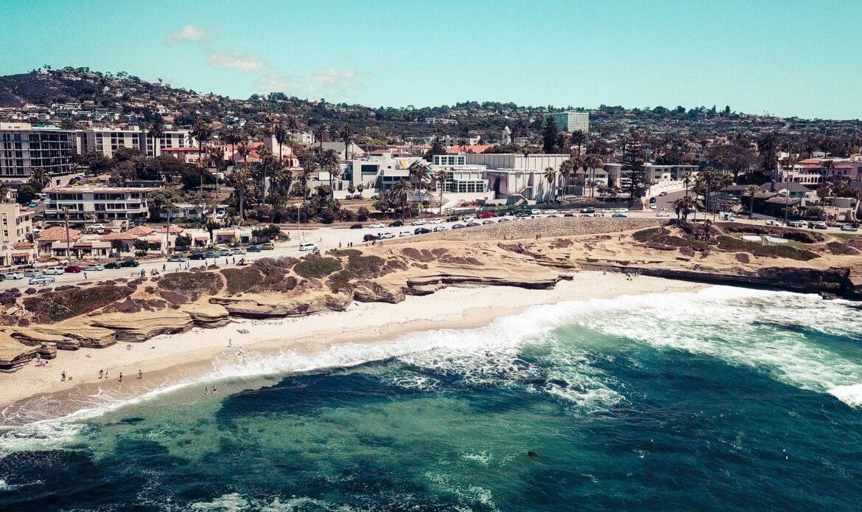 The coastline of San Diego