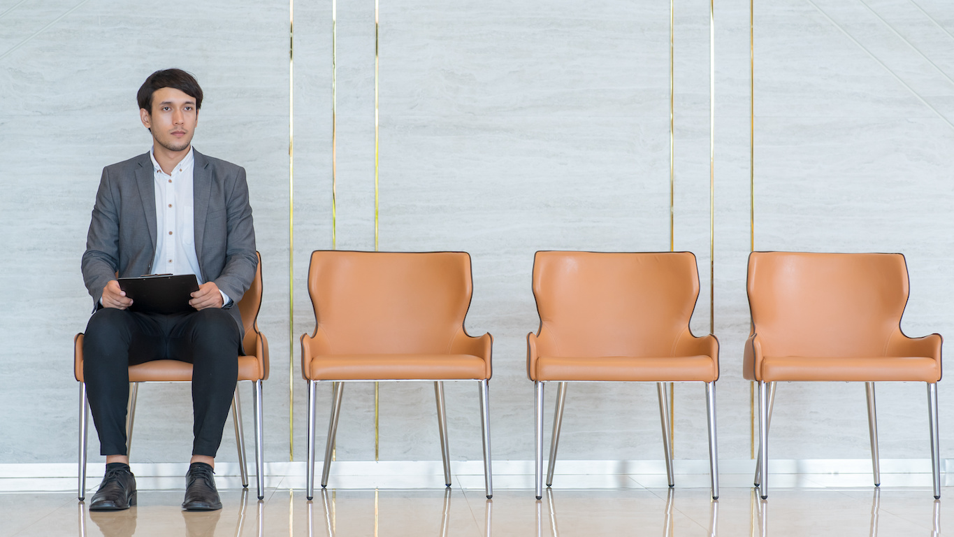 marketing interview questions: Applicant waiting for his turn at a job interview