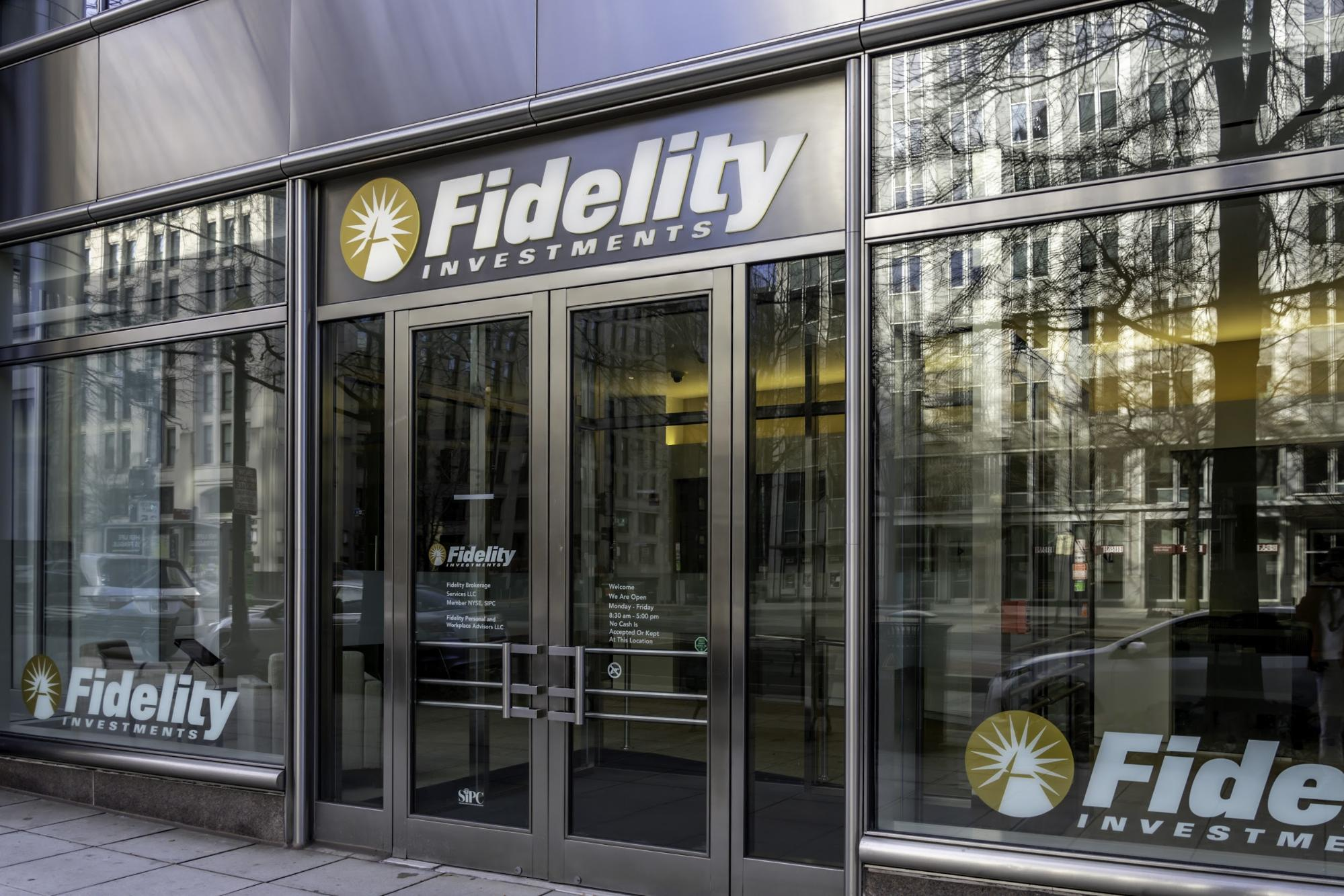 Fidelity internship: Entrance to the Fidelity Investments office
