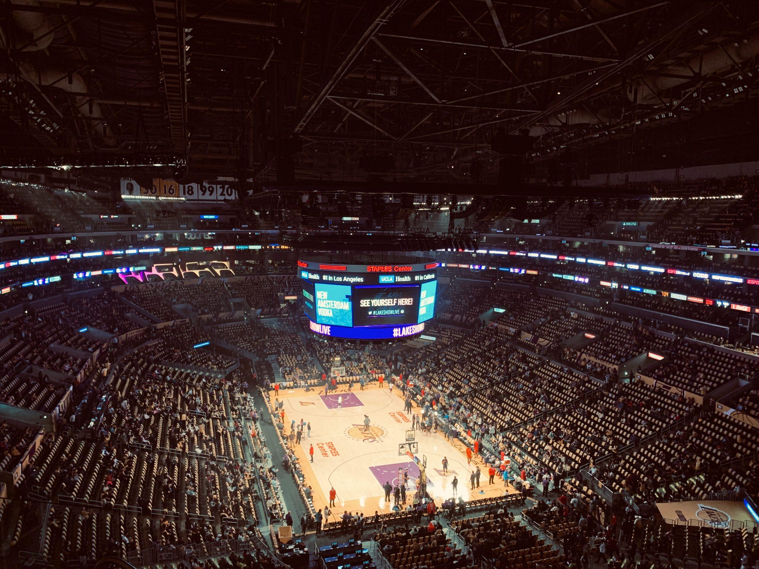 NBA stadium from a birds eye view