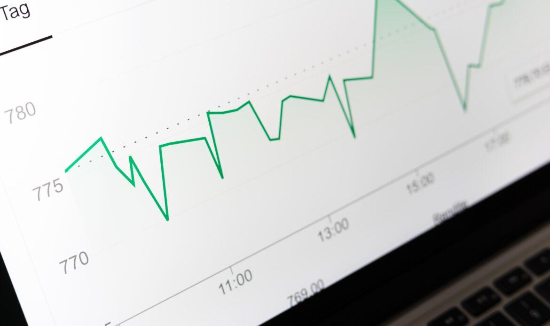 Financial analysis data on a computer screen.