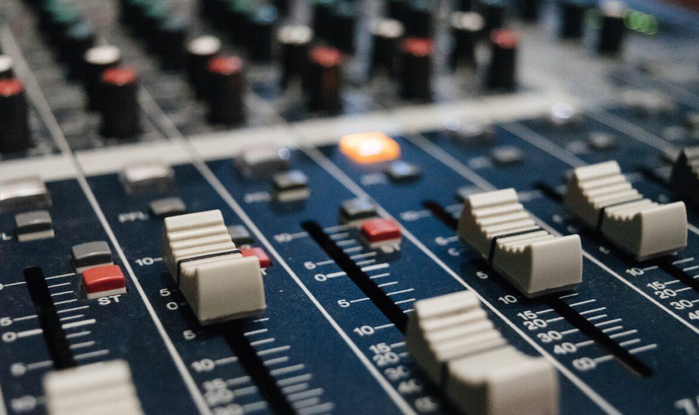 Audio board close up