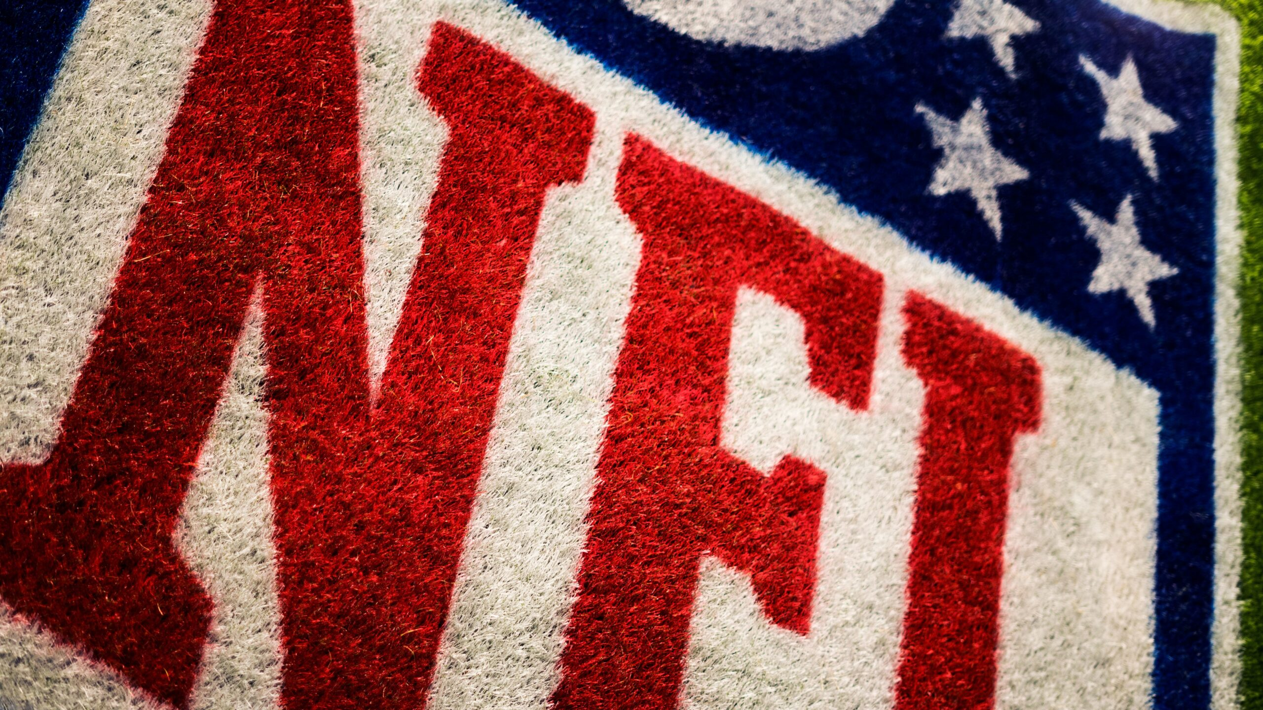 Close up of the NFL logo