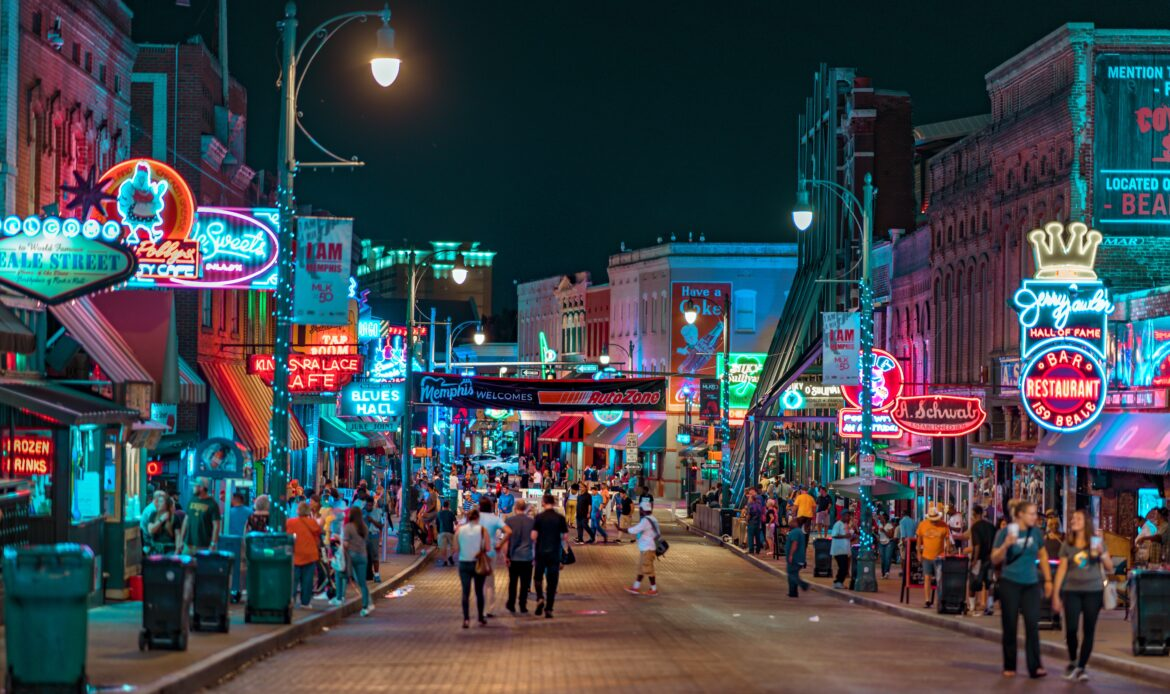 Downtown Memphis, Tennessee.
