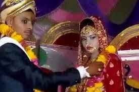 Hindistan'da garip bir düğün