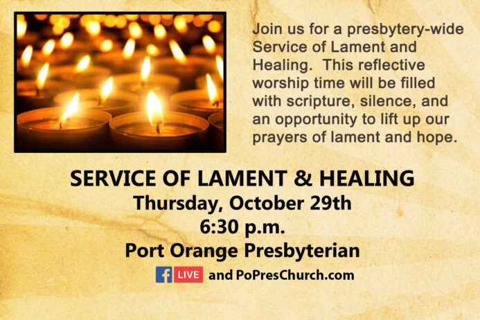 Service of Lament & Healing