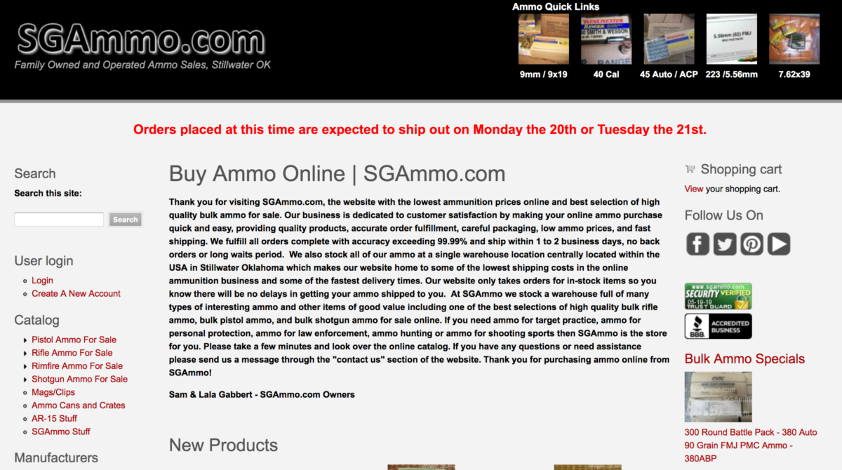 SGAmmo.com: Awesome Source of Cheap Ammo