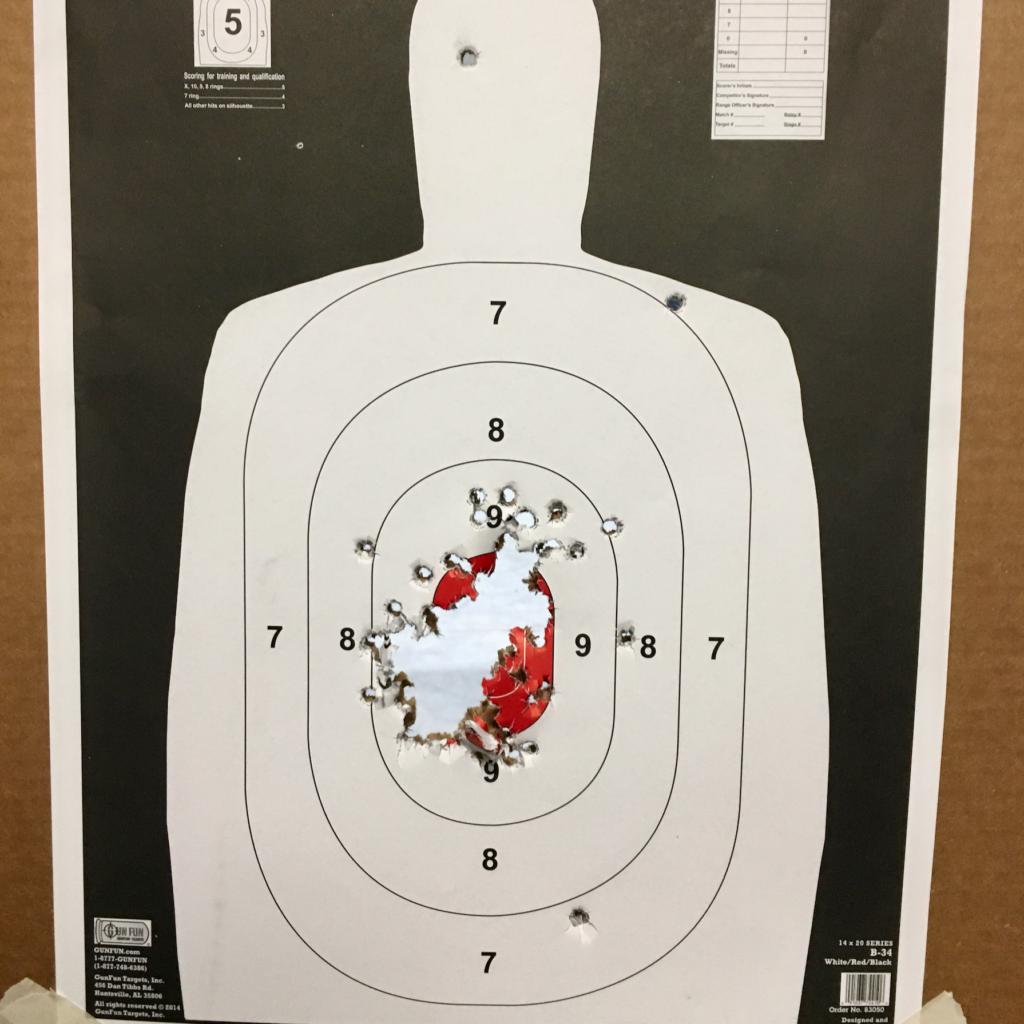 Exemplar of target used in the best revolver speedloader test.