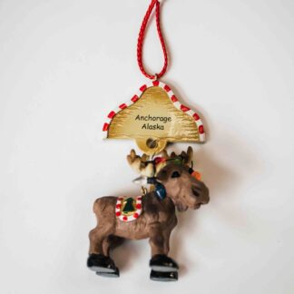 Anchorage Moose Ornament