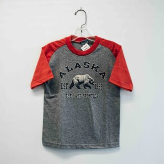 kids bear red and gray tee