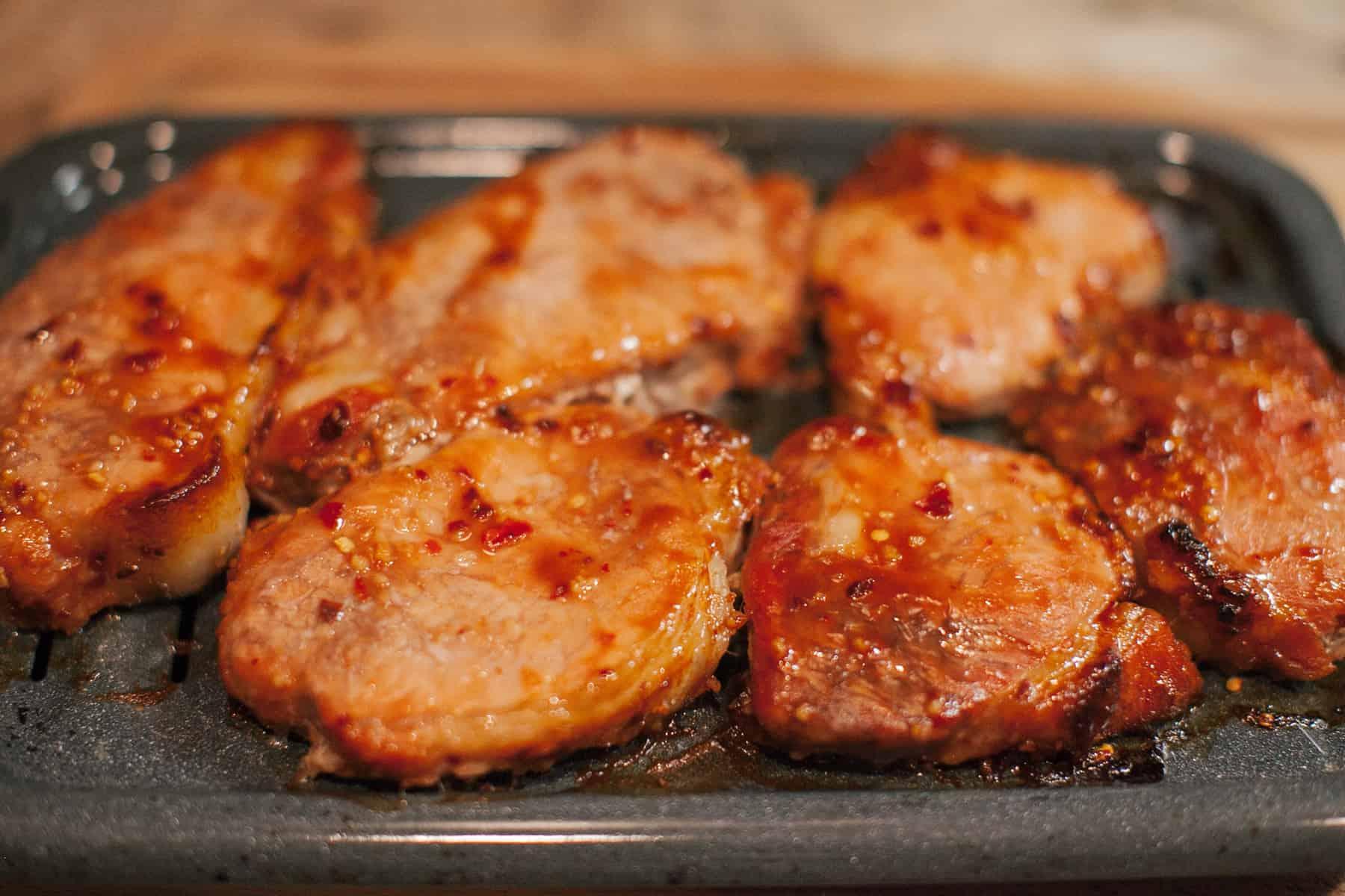 Spicy Honey Garlic Pork Chops
