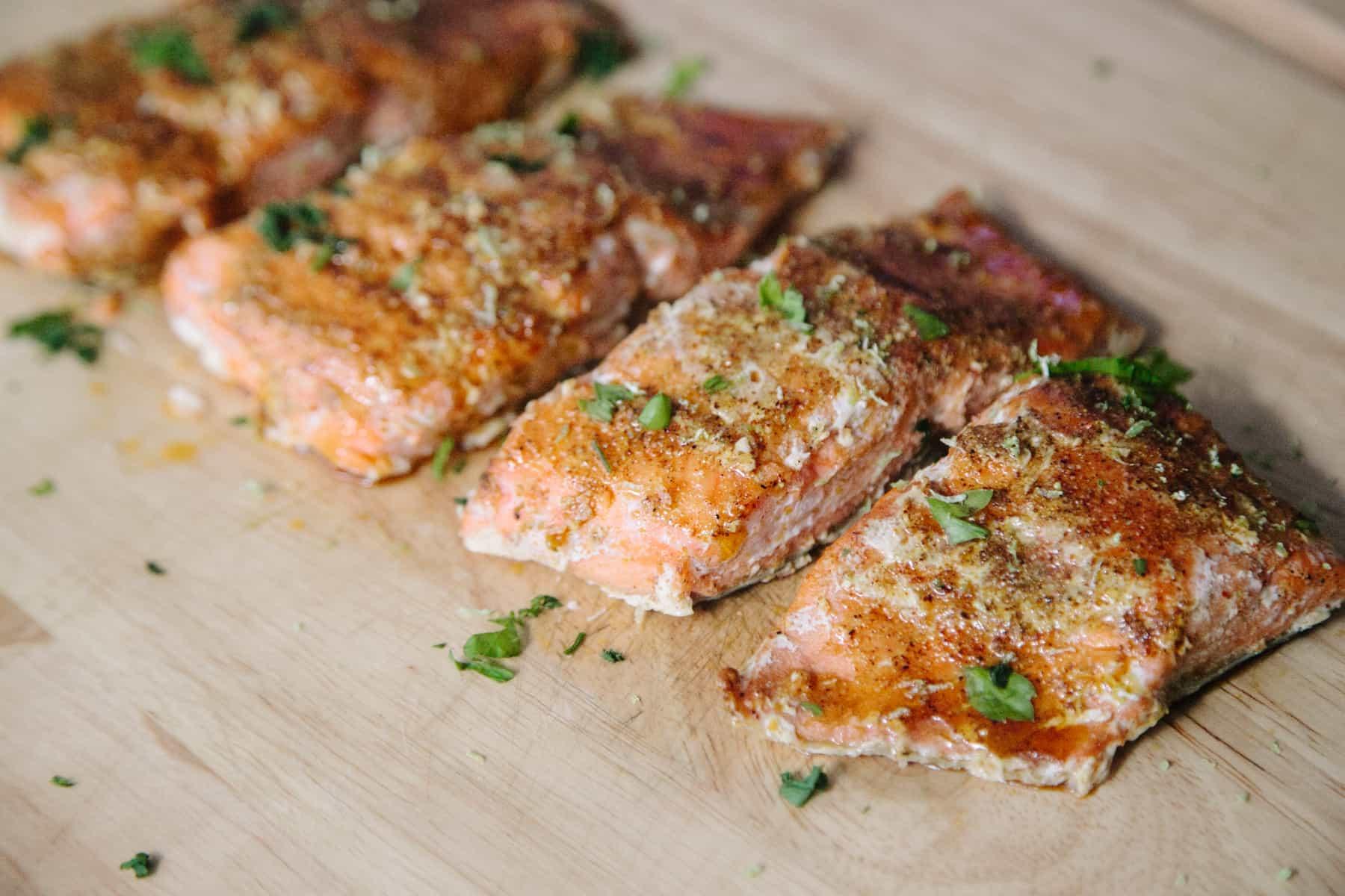 Baked Smokey Chipotle Lime Salmon