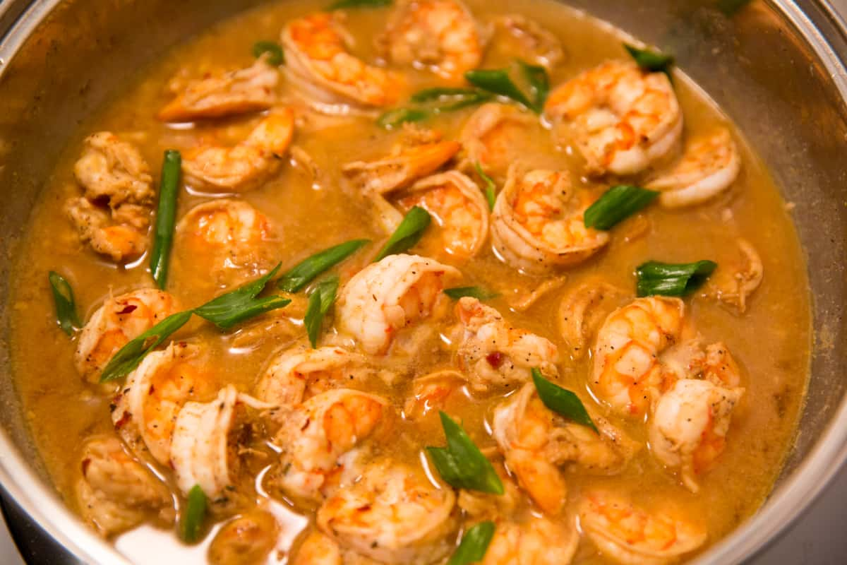 Barbequed Shrimp With Cajun Roasted Potatoes & Green Beans