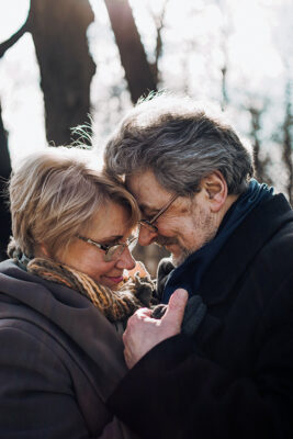 A Happy Middle-Aged Couple Embraces
