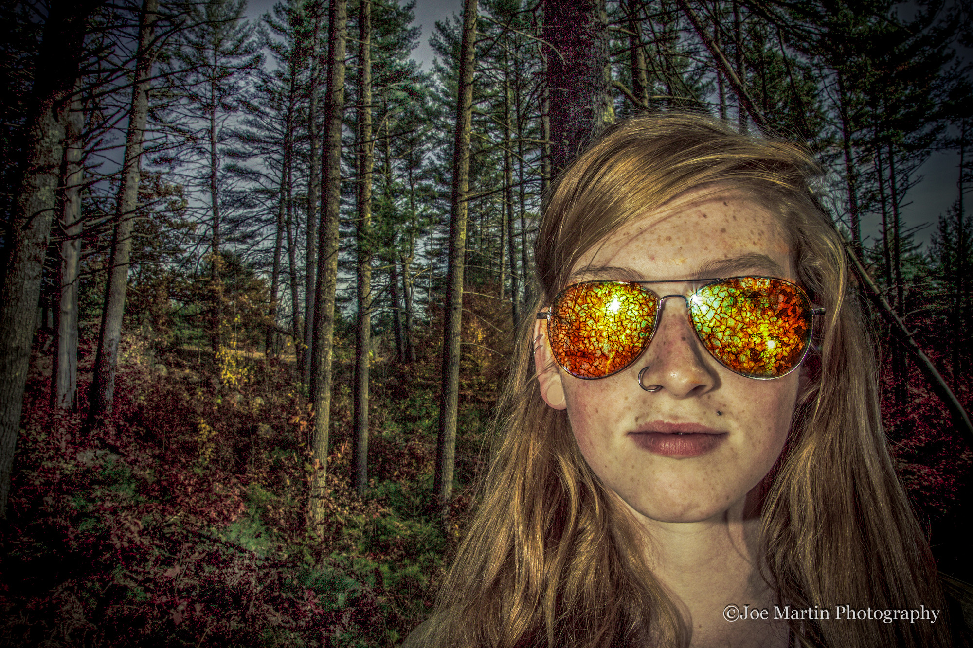 Senior portraits in the woods of New Hampshire