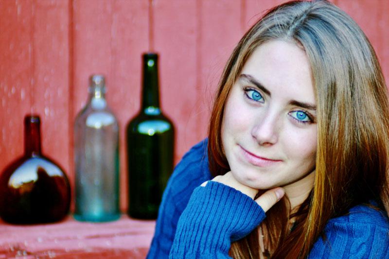 Senior portrait from North Conway NH photographer Joe Martin