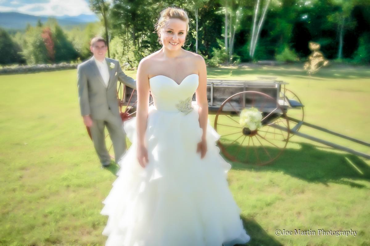 Wedding couple posing for a fine art photograph