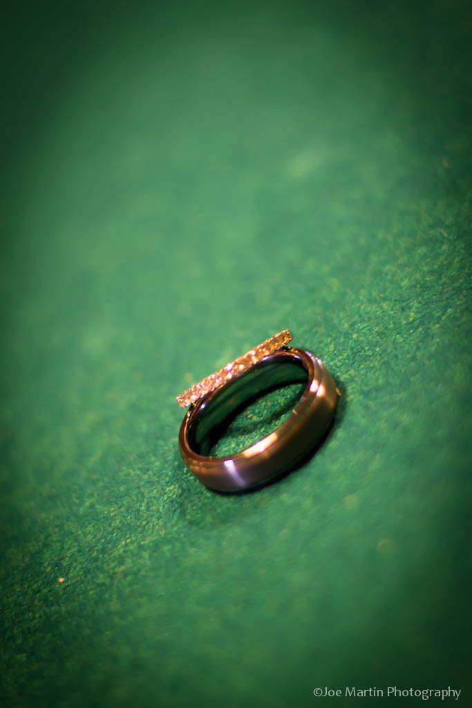 Wedding rings in a photo