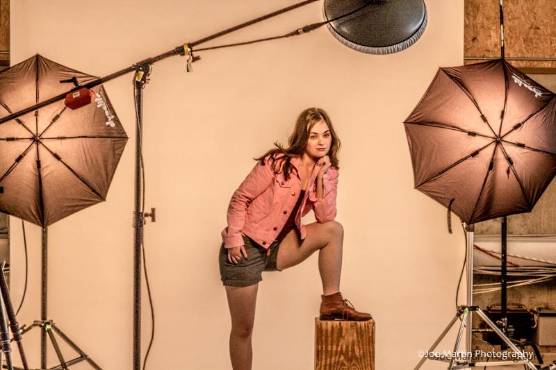 Photograph from a portrait lighting class
