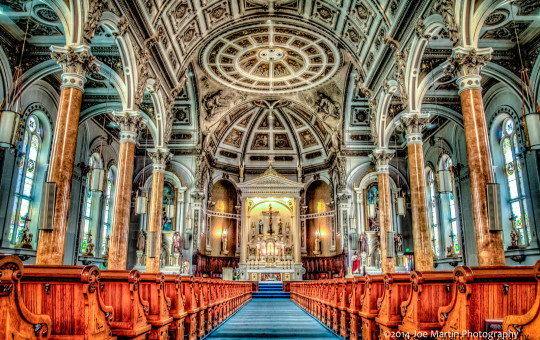 Inside a beautiful church in Berlin NH