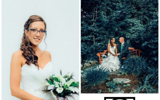 A few wedding photos in a collage