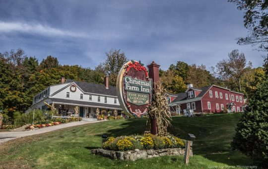 New Hampshire wedding venue The Christmas Farm Inn