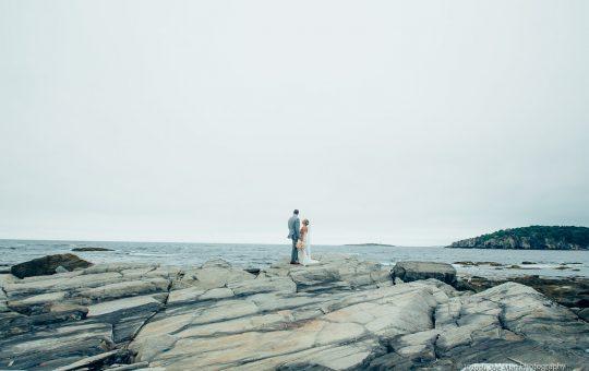 Fine art wedding photos taken after a peaks island wedding